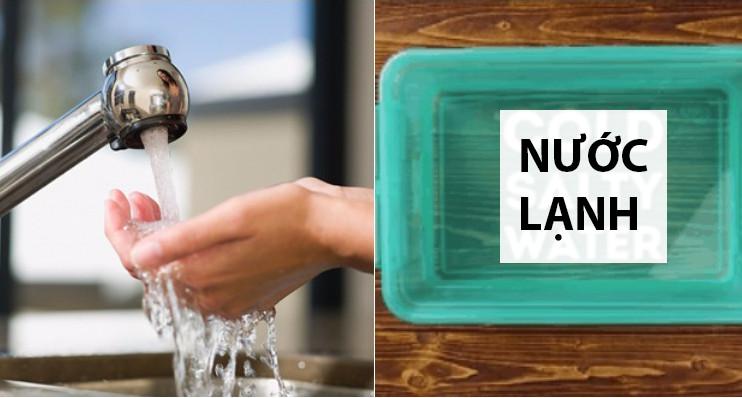 dùng nước lạnh giặt đồ