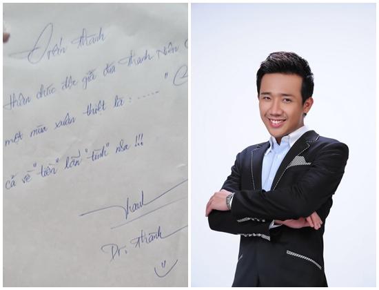 Chữ ký của MC Trấn Thành