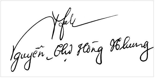 Chữ ký đẹp tên Nhung