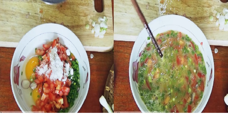 cách làm món trứng chiên cà chua 1
