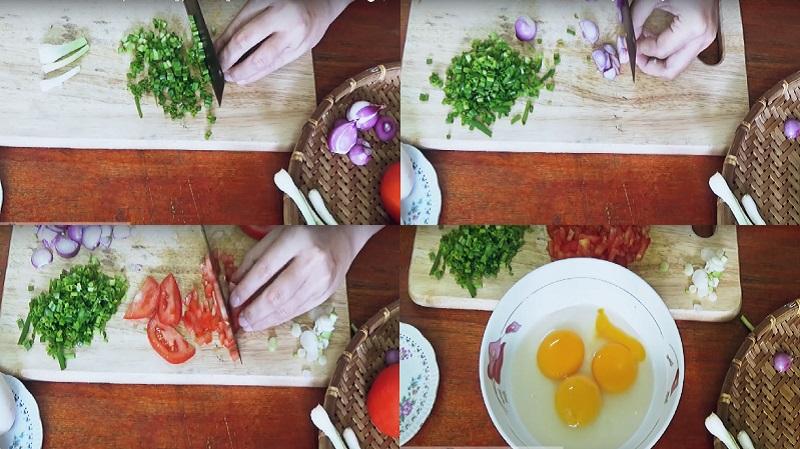 cách làm món trứng chiên cà chua