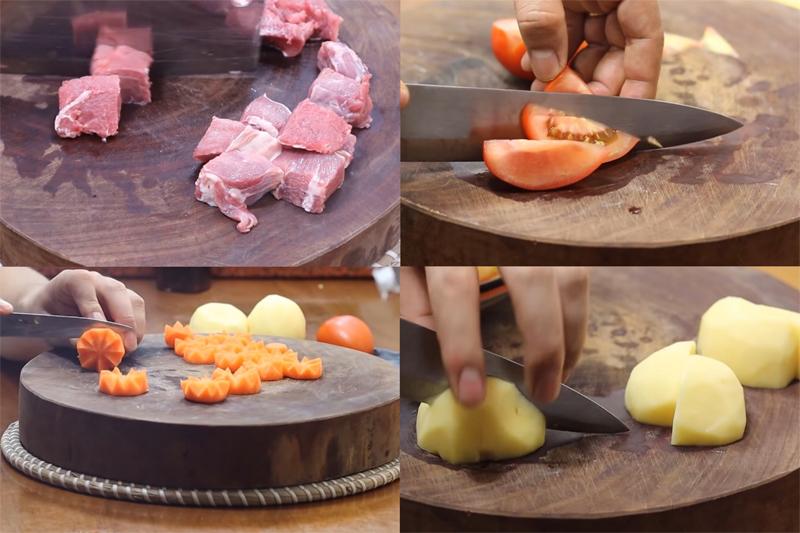 cách nấu bò hầm khoai tây 1