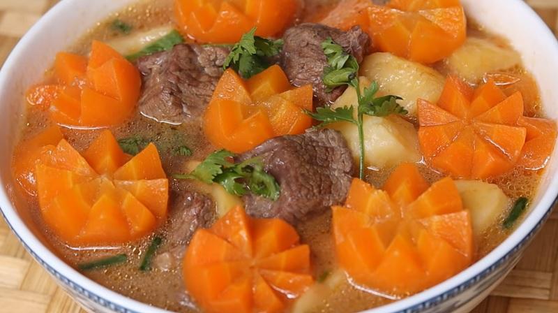 cách nấu bò hầm khoai tây 4