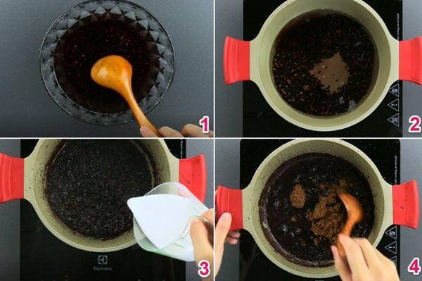 cách nấu sữa chua nếp cẩm tại nhà 3