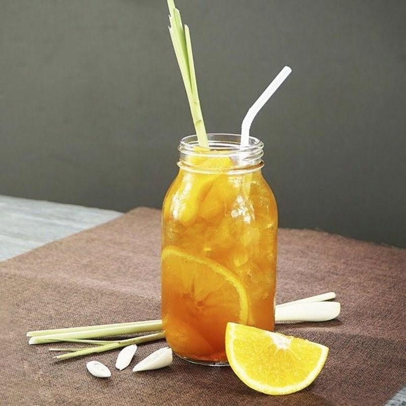 thành phẩm trà đào cam sả