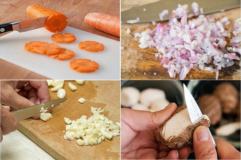 thịt vịt nấu khoai sọ 1